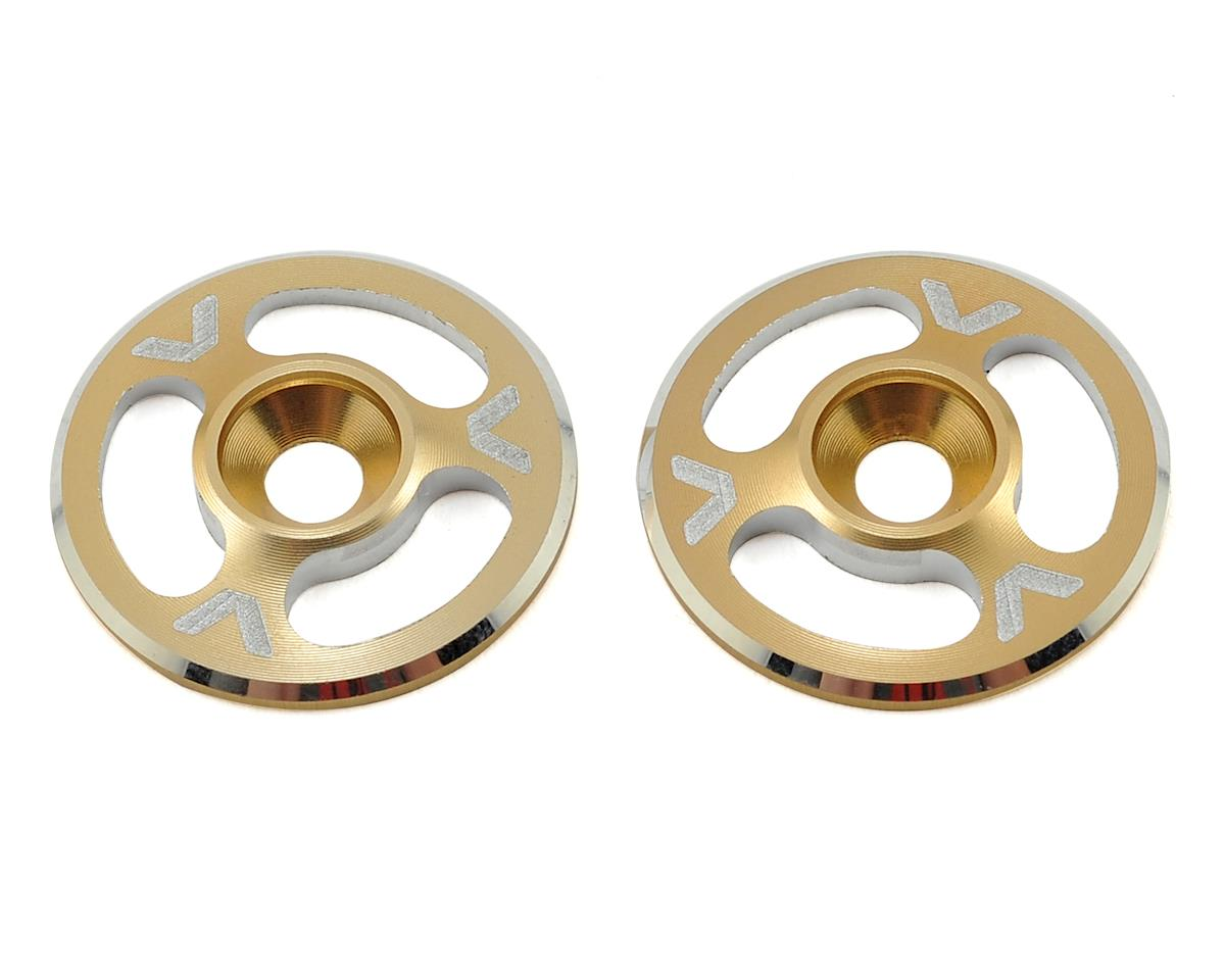 Avid RC Triad Wing Mount Buttons (2) (Gold) (HB Racing E817)