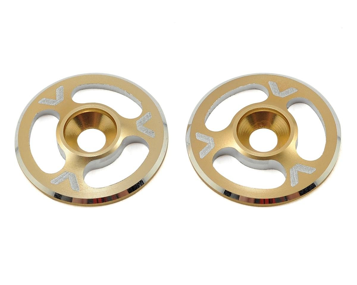 Avid RC Triad Wing Mount Buttons (2) (Gold) (Schumacher Cougar KR)