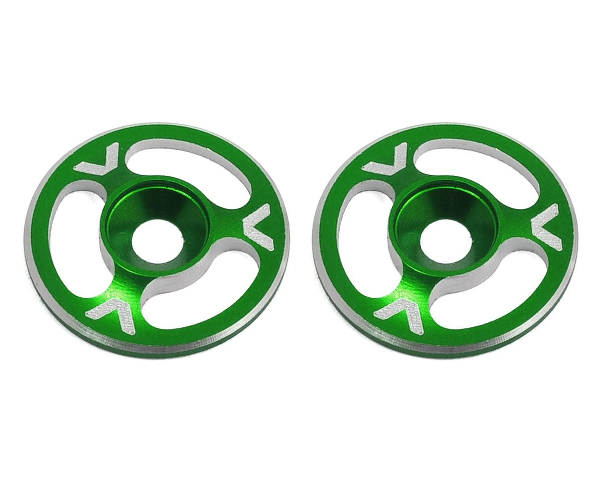 Avid RC Triad Wing Mount Buttons (2) (Green) (Hot Bodies D8T)