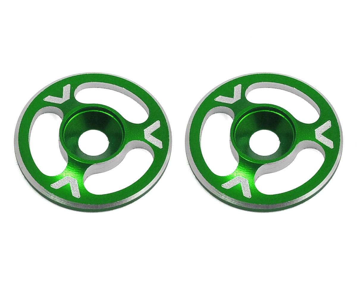Avid RC Triad Wing Mount Buttons (2) (Green) (Mugen Seiki MBX6E ECO)