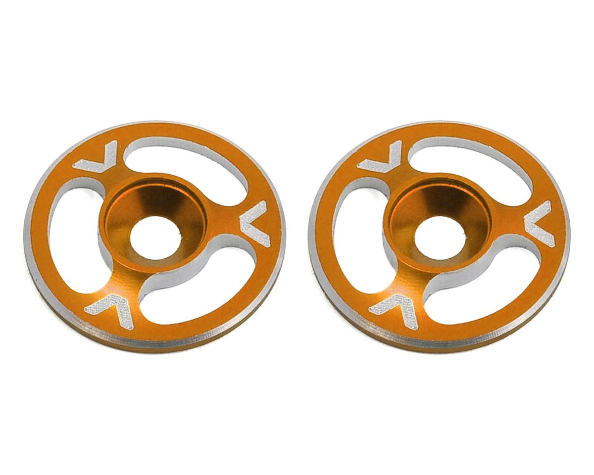Avid RC Triad Wing Mount Buttons (2) (Orange) (Schumacher CAT K2)