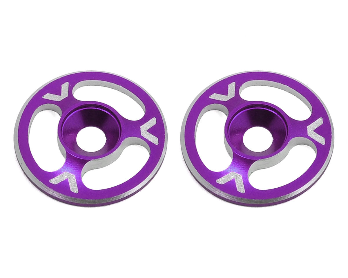 Avid RC Triad Wing Mount Buttons (2) (Purple) (Schumacher Cougar KF2 SE)