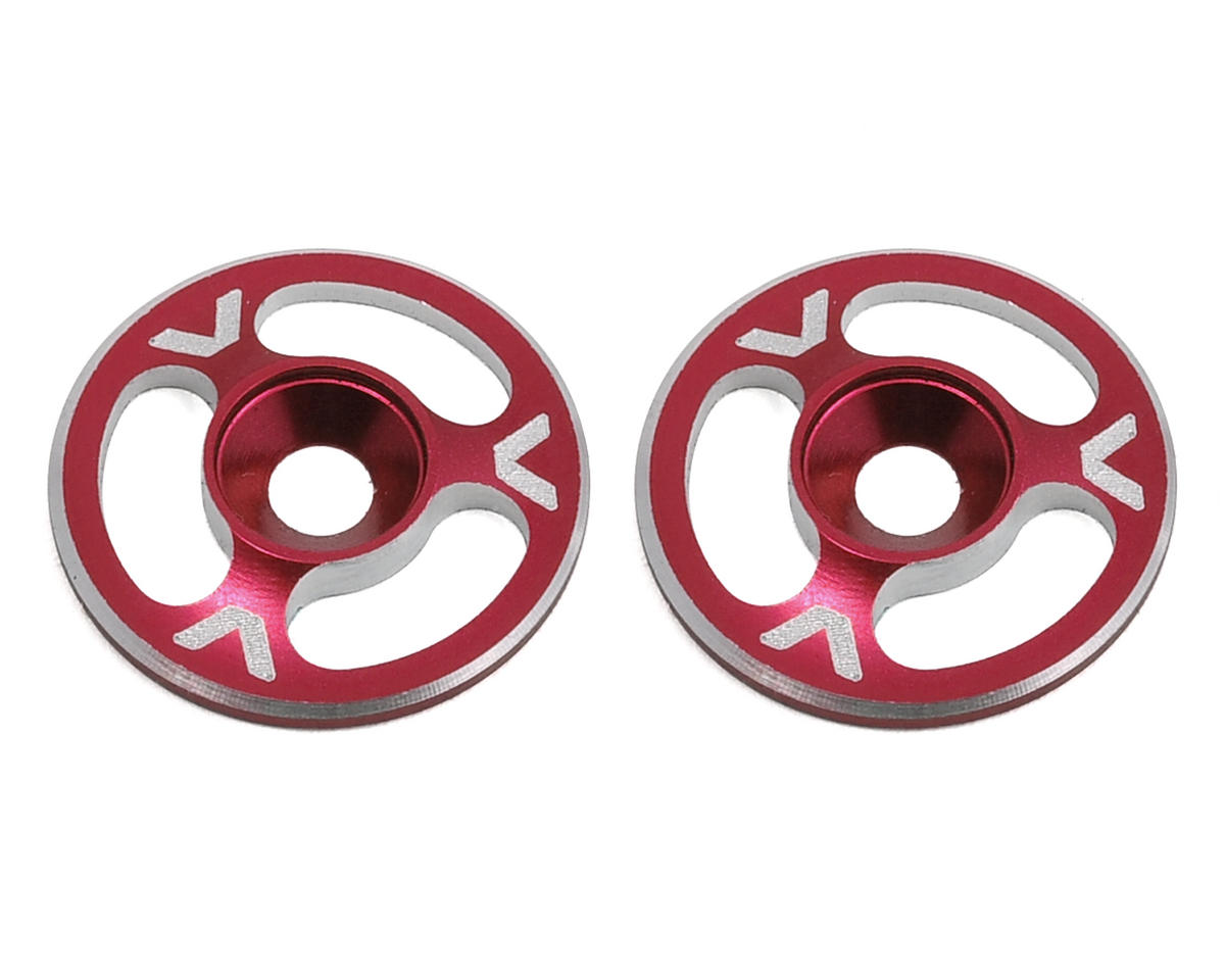 Avid RC Triad Wing Mount Buttons (2) (Red) (S-Workz S350 BE1 EVO)