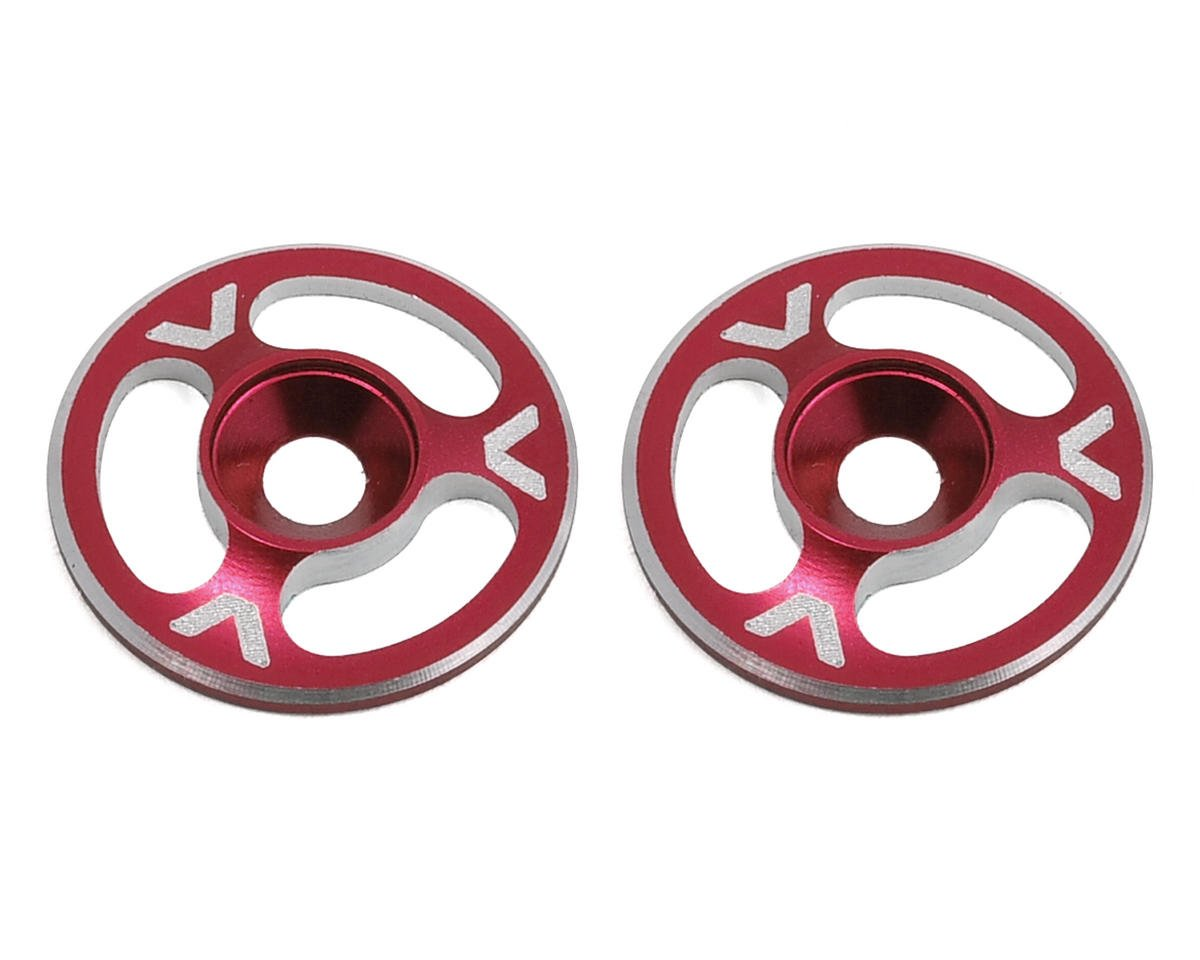 Avid RC Triad Wing Mount Buttons (2) (Red) (S-Workz S350 BE1)