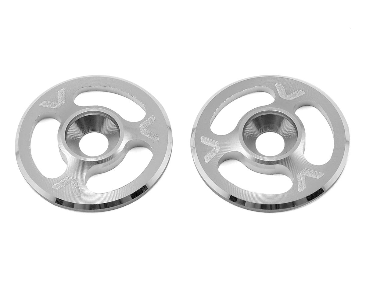Avid RC Triad Wing Mount Buttons (2) (Silver)