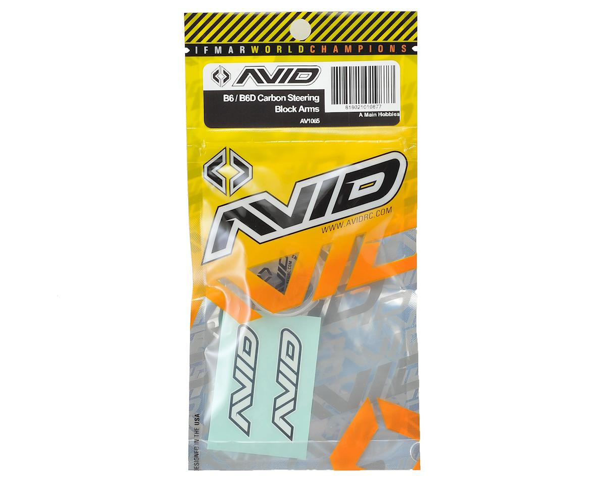 B6/B6D Carbon Fiber Steering Block Arms (2) by Avid RC