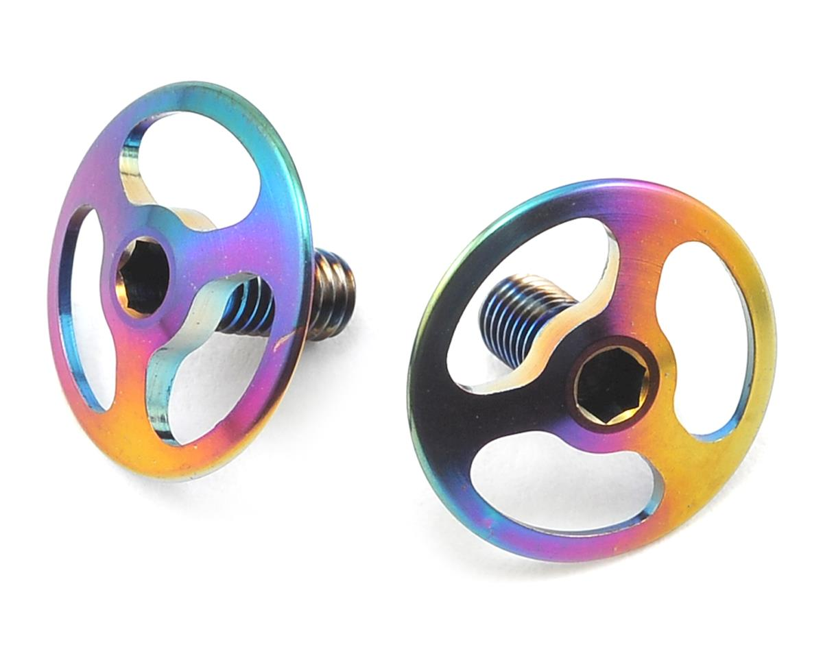 Avid RC Triad M3 Titanium Wing Button Screw (2) (Oil Slick) (Schumacher Cougar KF2)