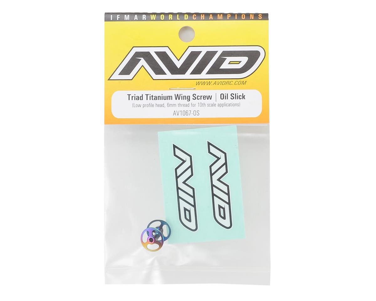 Avid RC Triad M3 Titanium Wing Button Screw (2) (Oil Slick)