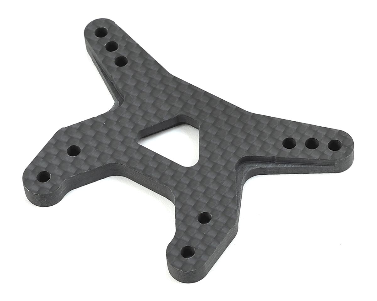 "B6/B6D 4.5mm Carbon Fiber ""Gullwing"" Front Shock Tower by Avid RC"
