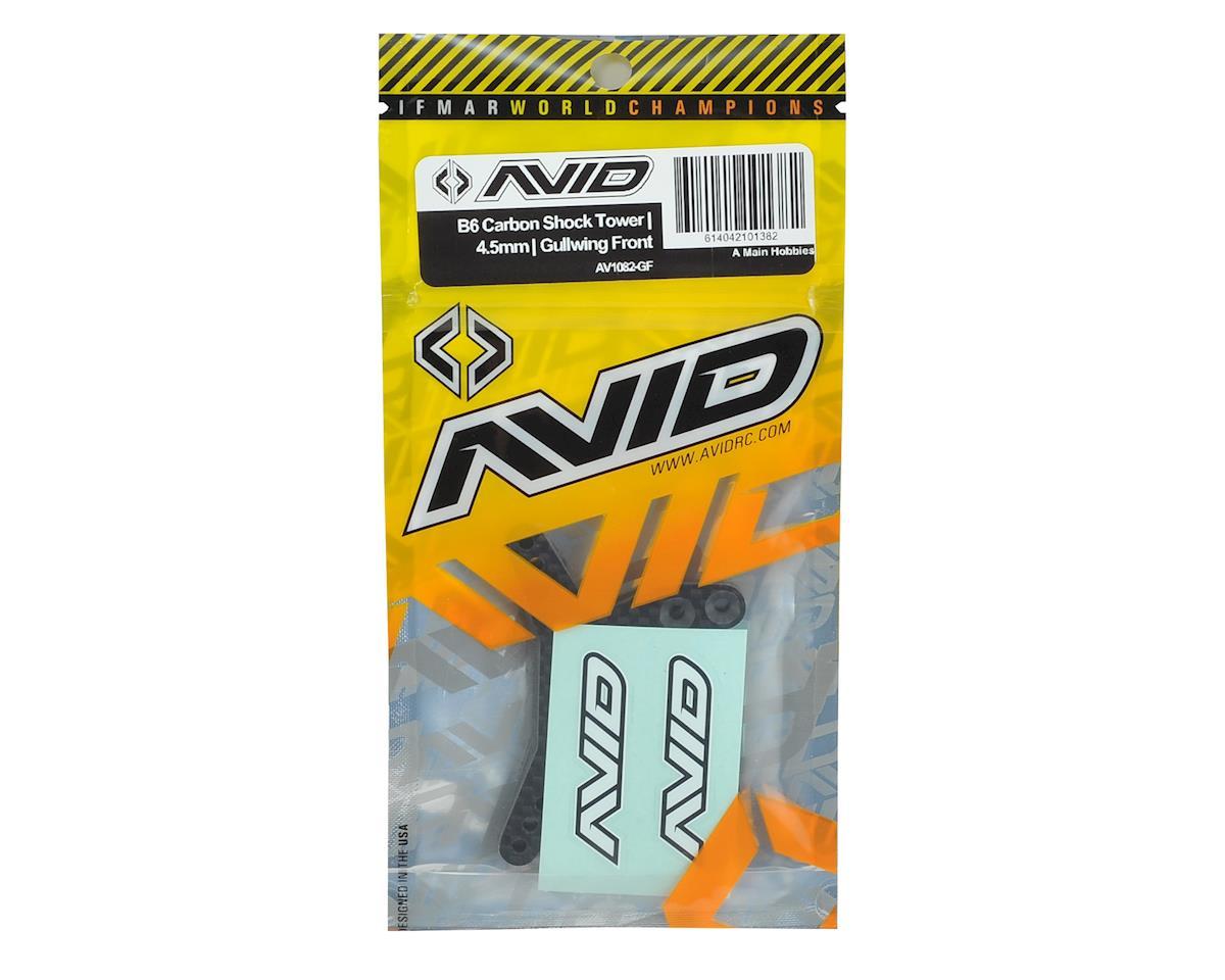 "Avid RC B6/B6D 4.5mm Carbon Fiber ""Gullwing"" Front Shock Tower"