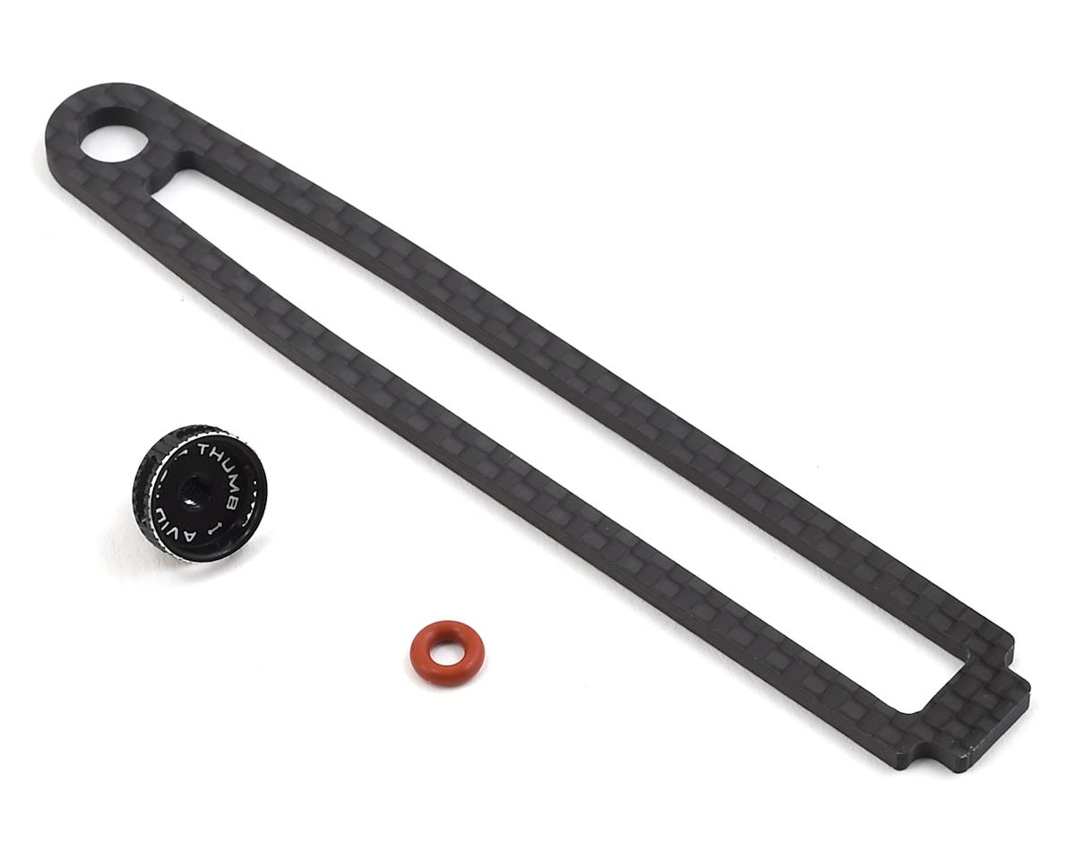 Avid RC EB410 Carbon Battery Brace w/Thumbwheel