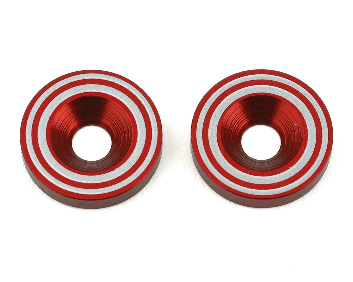 Avid RC Kyosho 1/8 Wing Washers (Red)