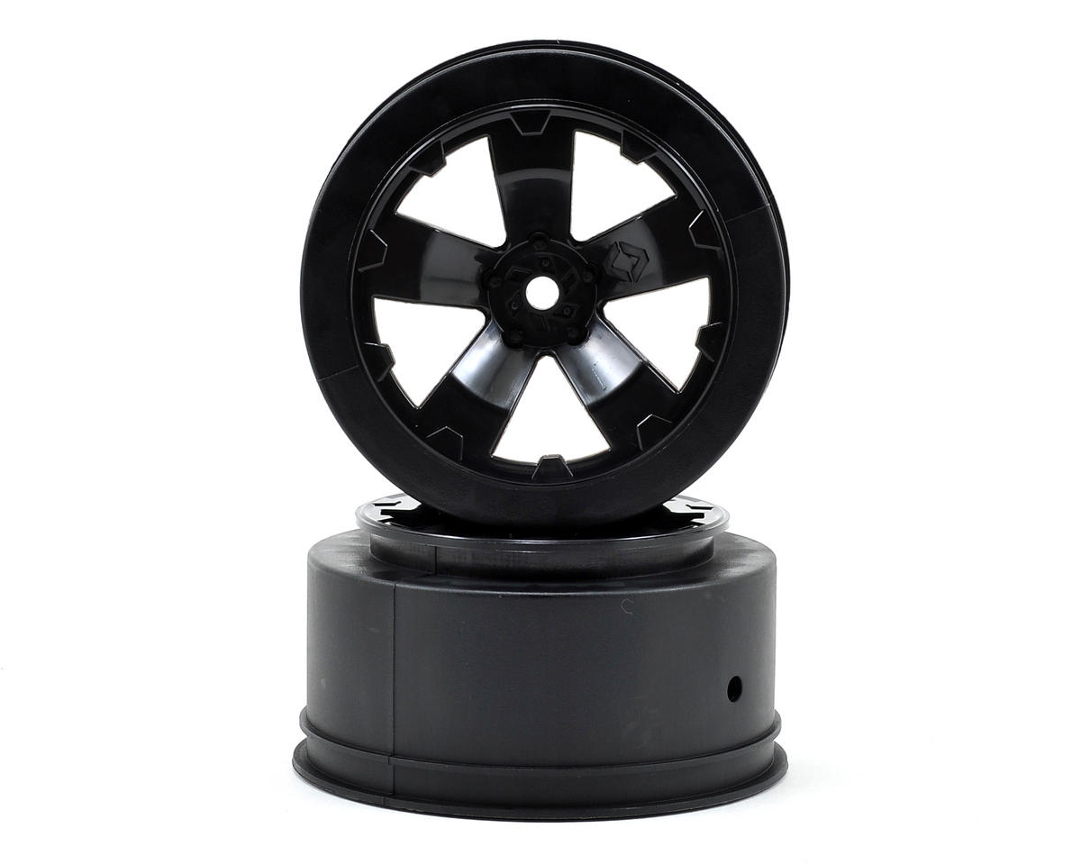 Avid RC Sabertooth Short Course Wheels w/3mm Offset (Black) (2) (SC5M) (Team Associated SC10B)