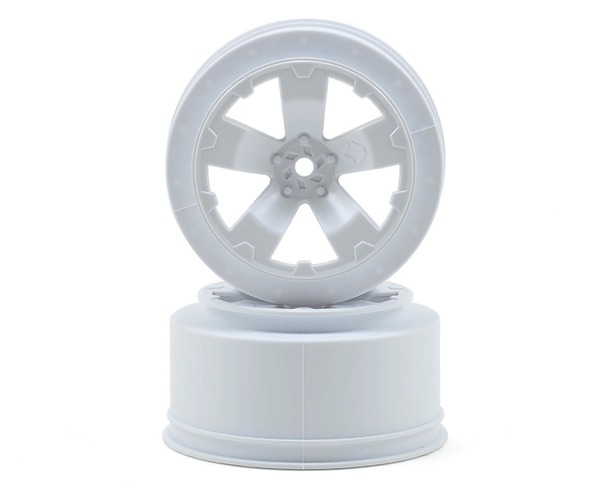 Avid RC Sabertooth Short Course Wheels w/3mm Offset (White) (2) (SC5M) (Team Associated ProRally)