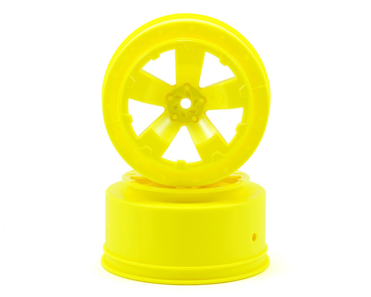 Avid RC Sabertooth Short Course Wheels w/3mm Offset (Yellow) (2) (SC5M) (Team Associated SC10 4x4)