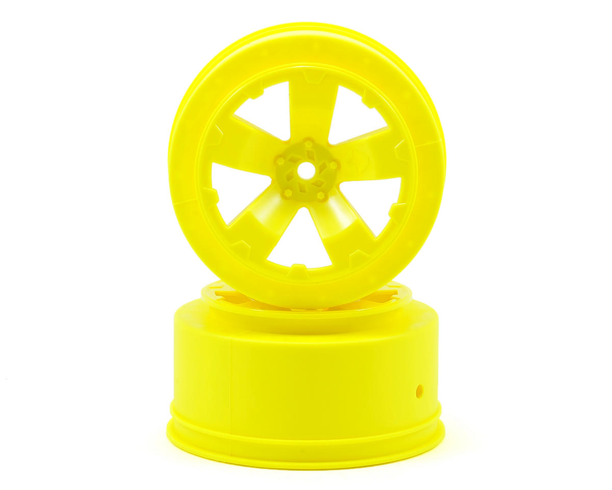Avid RC Sabertooth Short Course Wheels w/3mm Offset (Yellow) (2) (SC5M) (Team Associated ProRally)