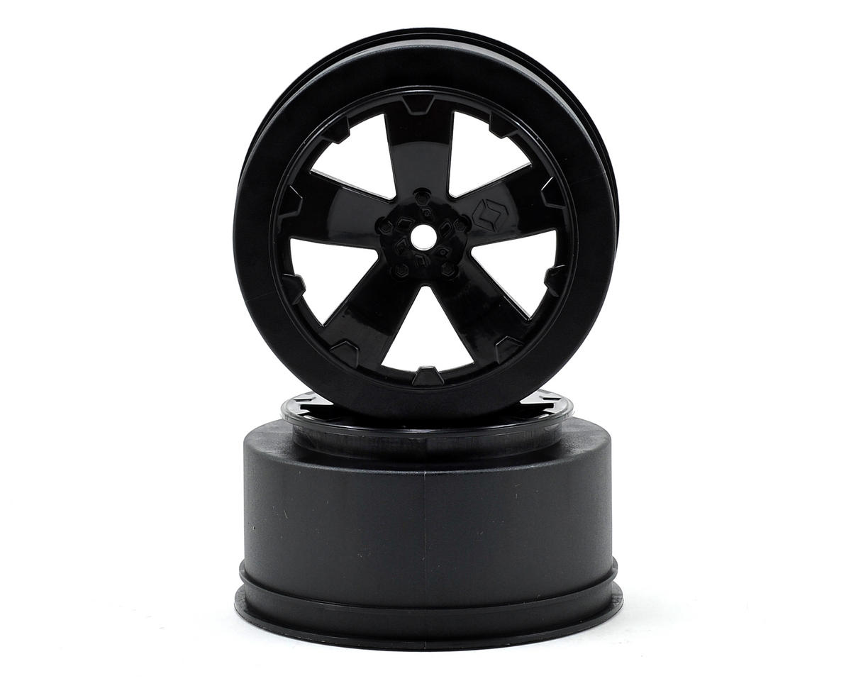 "12mm Hex ""Sabertooth"" Short Course Wheels (Black) (2) (22SCT/TEN-SCTE)"