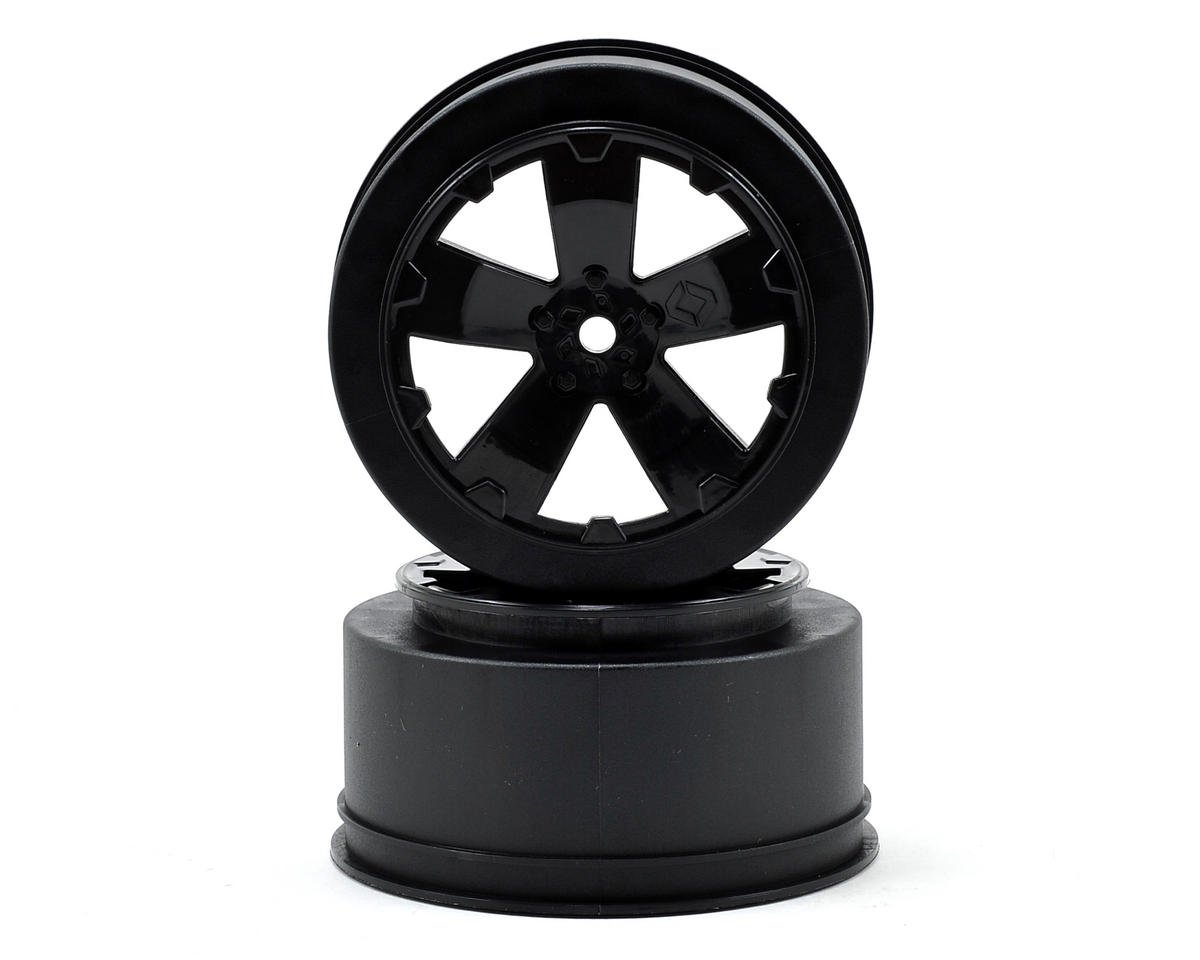 "Avid RC 12mm Hex ""Sabertooth"" Short Course Wheels (Black) (2) (22SCT/TEN-SCTE) (Losi TEN-SCT Nitro)"