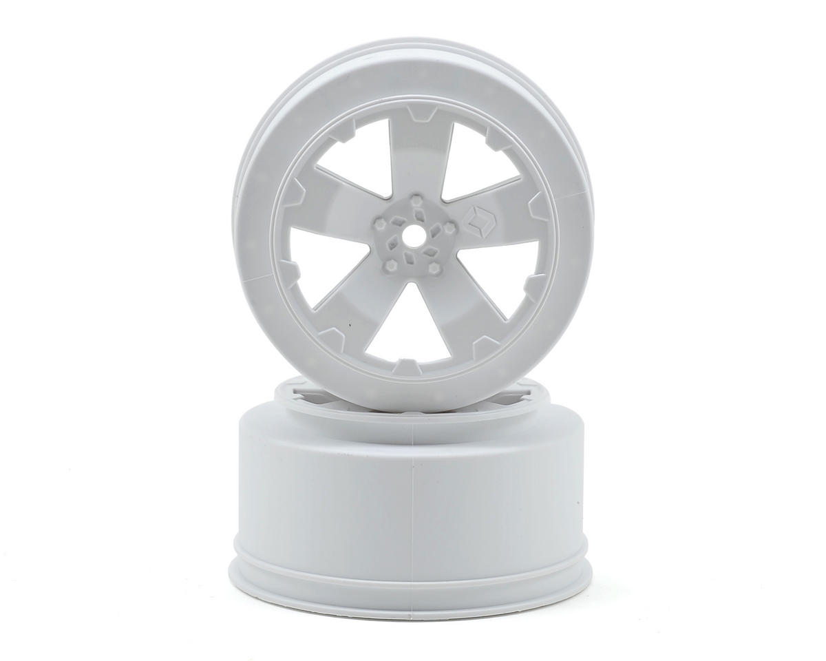 "Avid RC 12mm Hex ""Sabertooth"" Short Course Wheels (White) (2) (22SCT/TEN-SCTE) (Losi XXX-SCB)"
