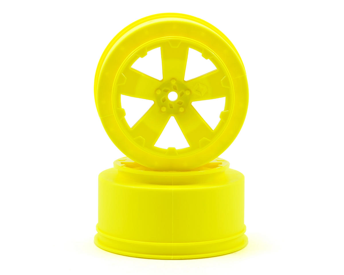 "Avid RC 12mm Hex ""Sabertooth"" Short Course Wheels (Yellow) (2) (22SCT/TEN-SCTE) (Losi TEN-SCT Nitro)"