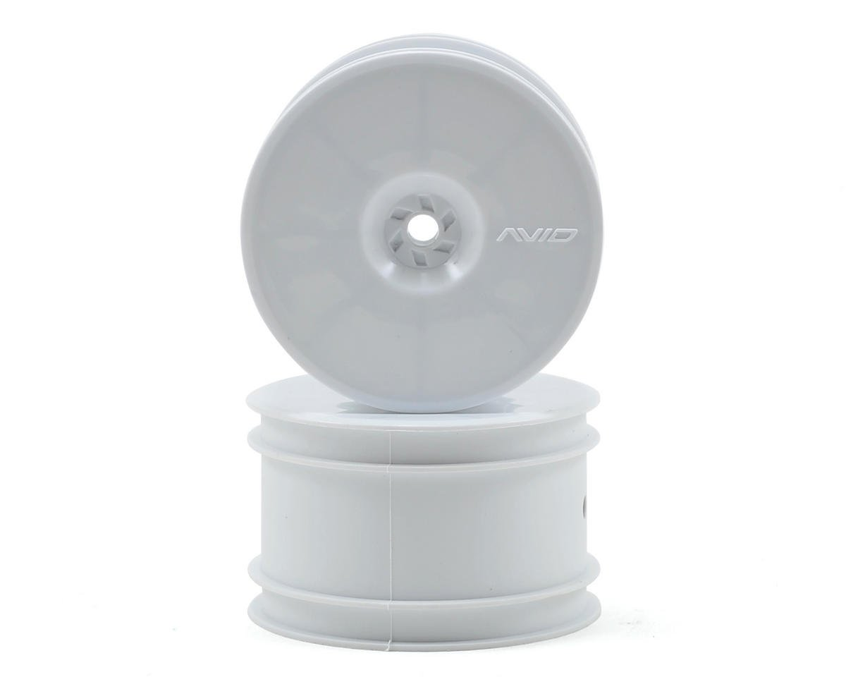 "Avid RC 12mm Hex Satellite 2.2"" Rear Buggy Wheels (White) (2) (B6/22/RB6/ZX6) (Kyosho Lazer ZX-5)"