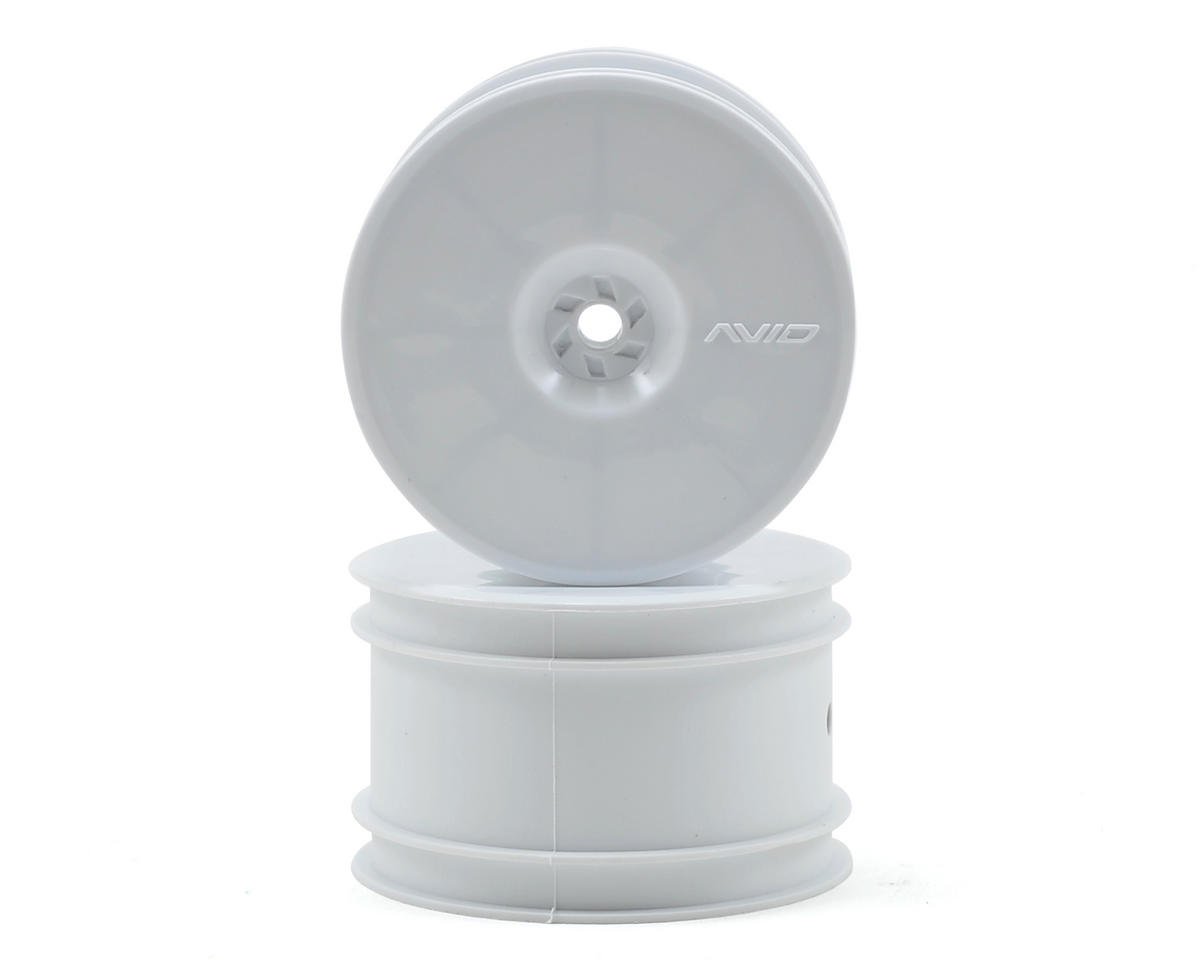 "Avid RC 12mm Hex Satellite 2.2"" Rear Buggy Wheels (White) (2) (B6/22/RB6/ZX6)"