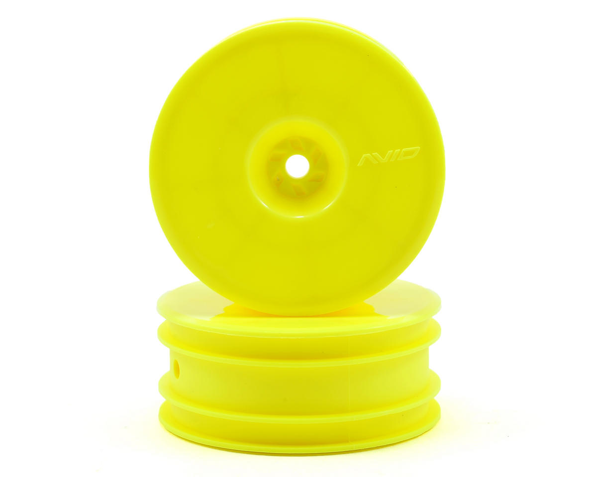 "Avid RC 12mm Hex Satellite 2.2"" Front Buggy Wheels (Yellow) (2) (B6/RB6/YZ2)"