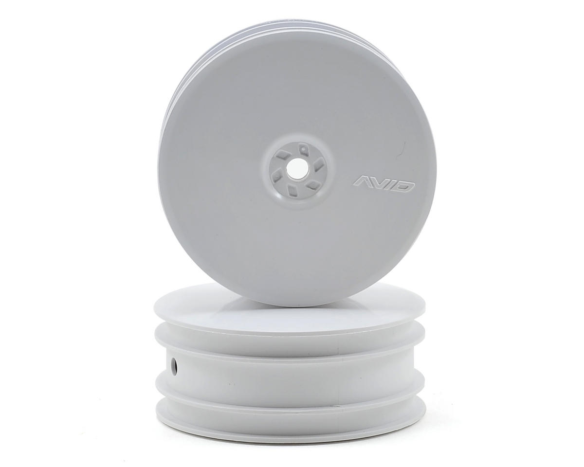 "10mm Hex Satellite 2.2"" Front Buggy Wheels (2) (TLR 22) (White) by Avid RC"