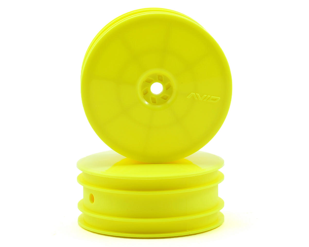 "Avid RC 10mm Hex Satellite 2.2"" Front Buggy Wheels (2) (TLR 22) (Yellow)"