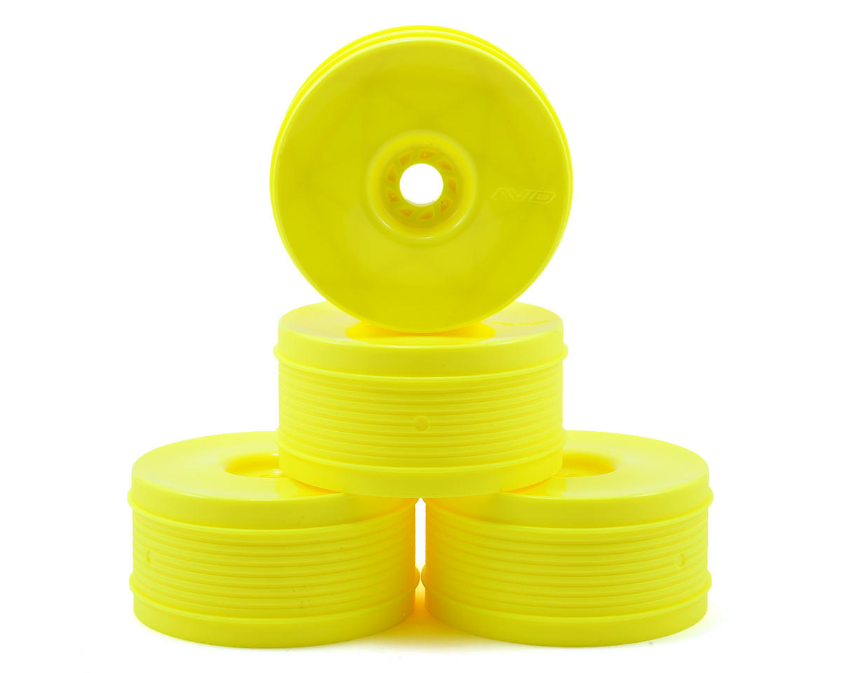 """Truss"" 83mm 1/8 Buggy Wheel (4) (Yellow) by Avid RC"