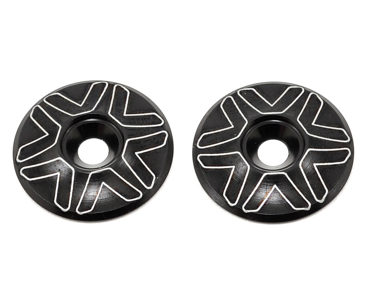 Avid RC 1/10th Wing Mount Buttons (Black) (Schumacher CAT K2)