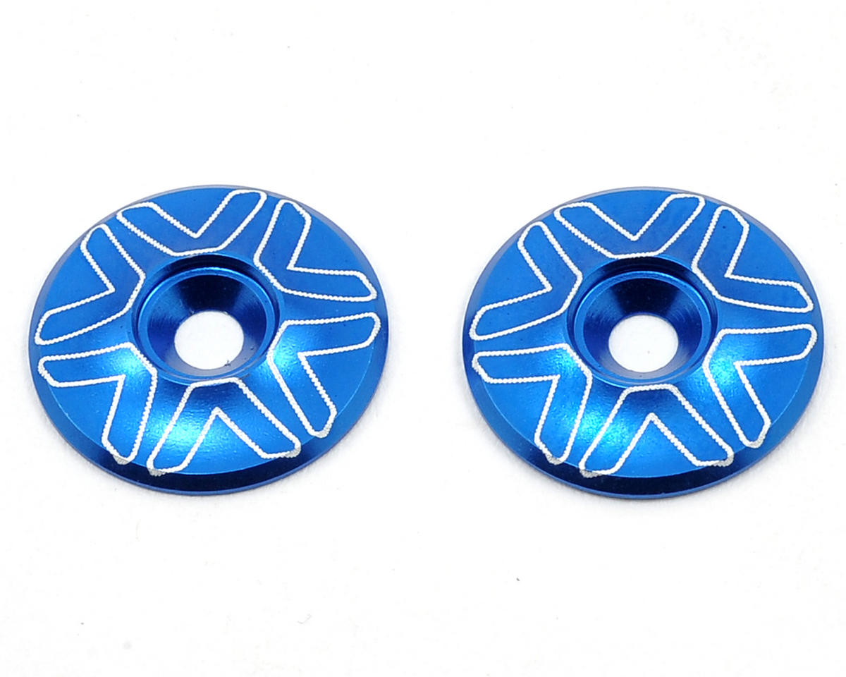 Avid RC 1/10th Wing Mount Buttons (Blue) (Schumacher Cougar KF2 SE)