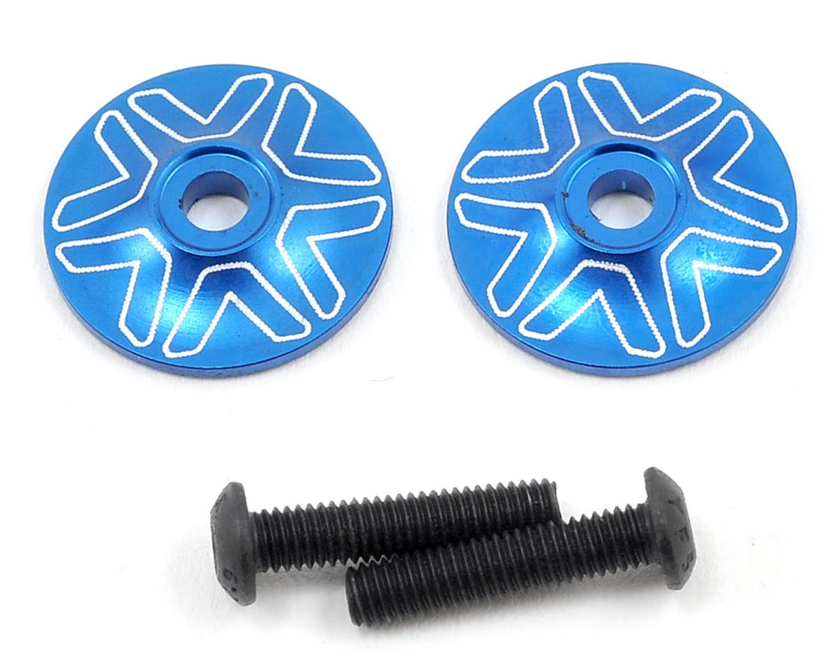 Avid RC 1/8 Wing Mount Button (2) (Blue) (RB Products RB E One)