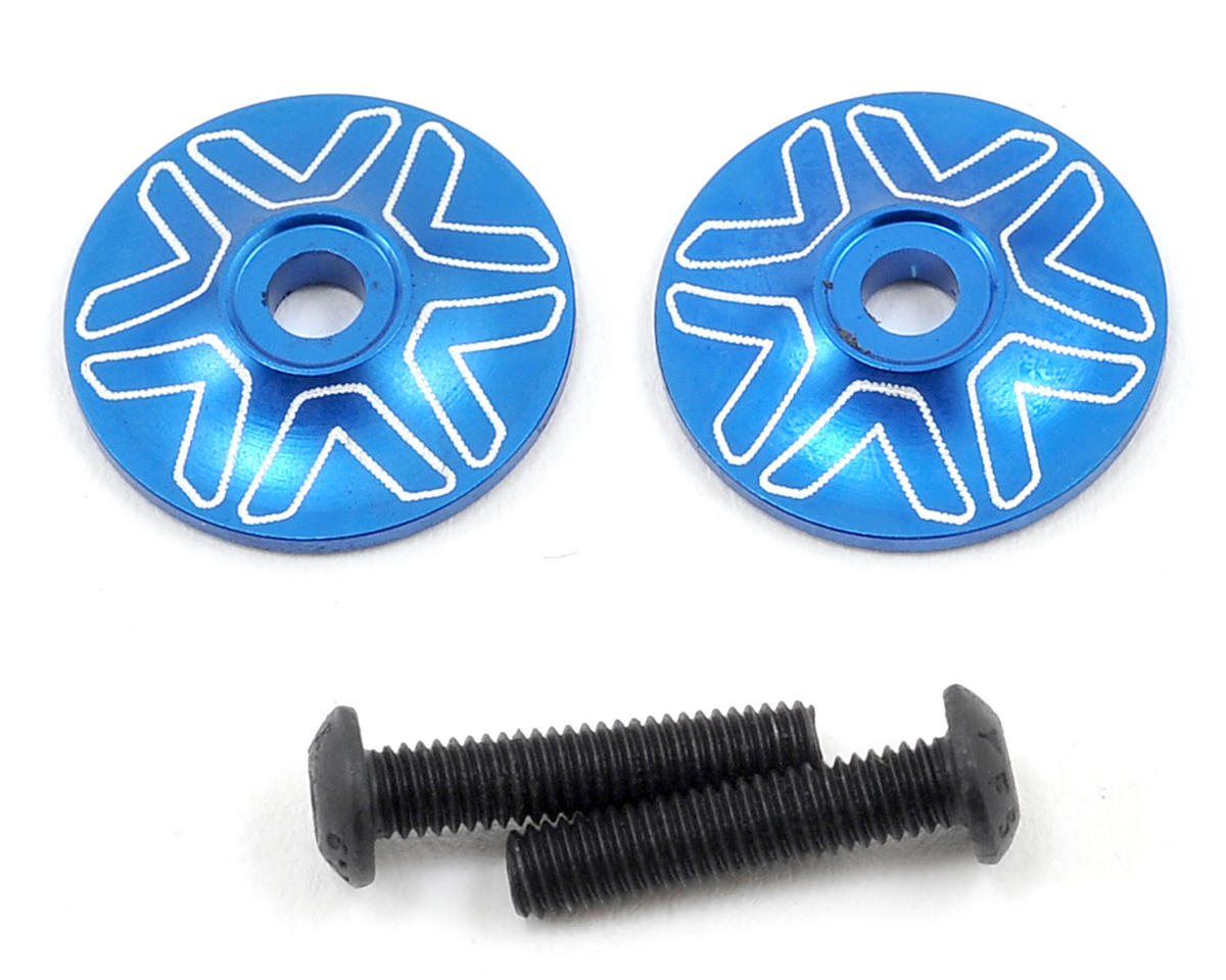 Avid RC 1/8 Wing Mount Button (2) (Blue) (RB Products RB One)
