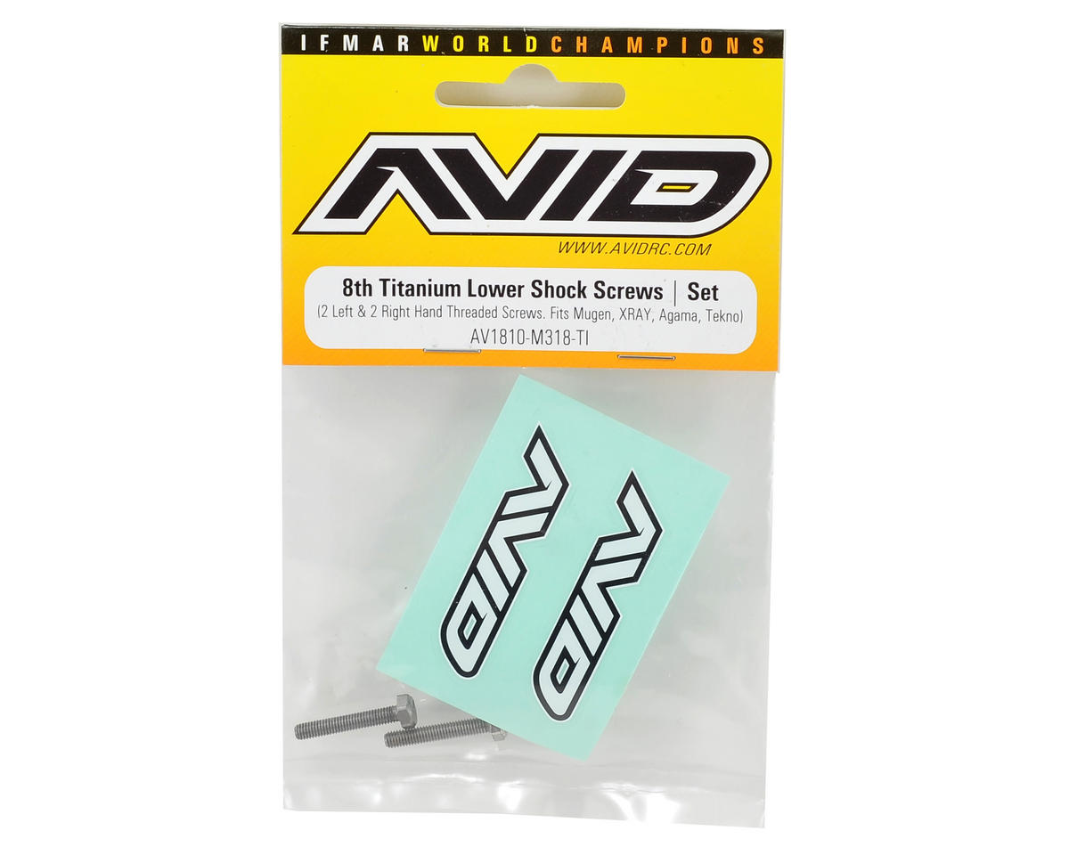 Avid RC 3x18mm Titanium Lower Shock Mount Screws (4)
