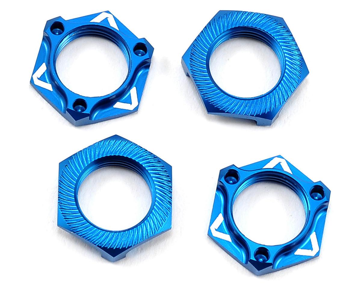"""""""Triad"""" 17mm Light Weight Wheel Nut (4) (Blue) by Avid RC"""