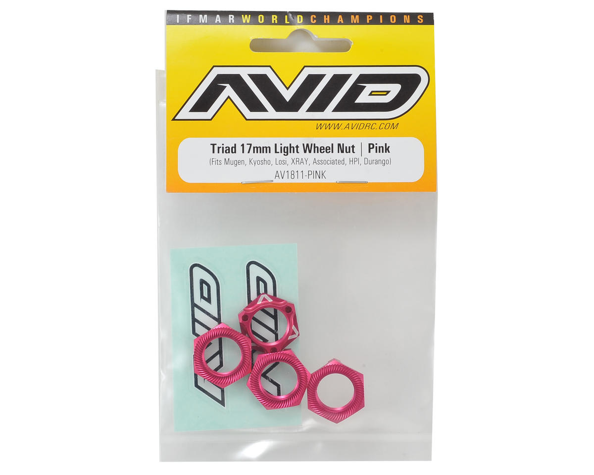 "Avid RC ""Triad"" 17mm Light Weight Wheel Nut (4) (Pink)"