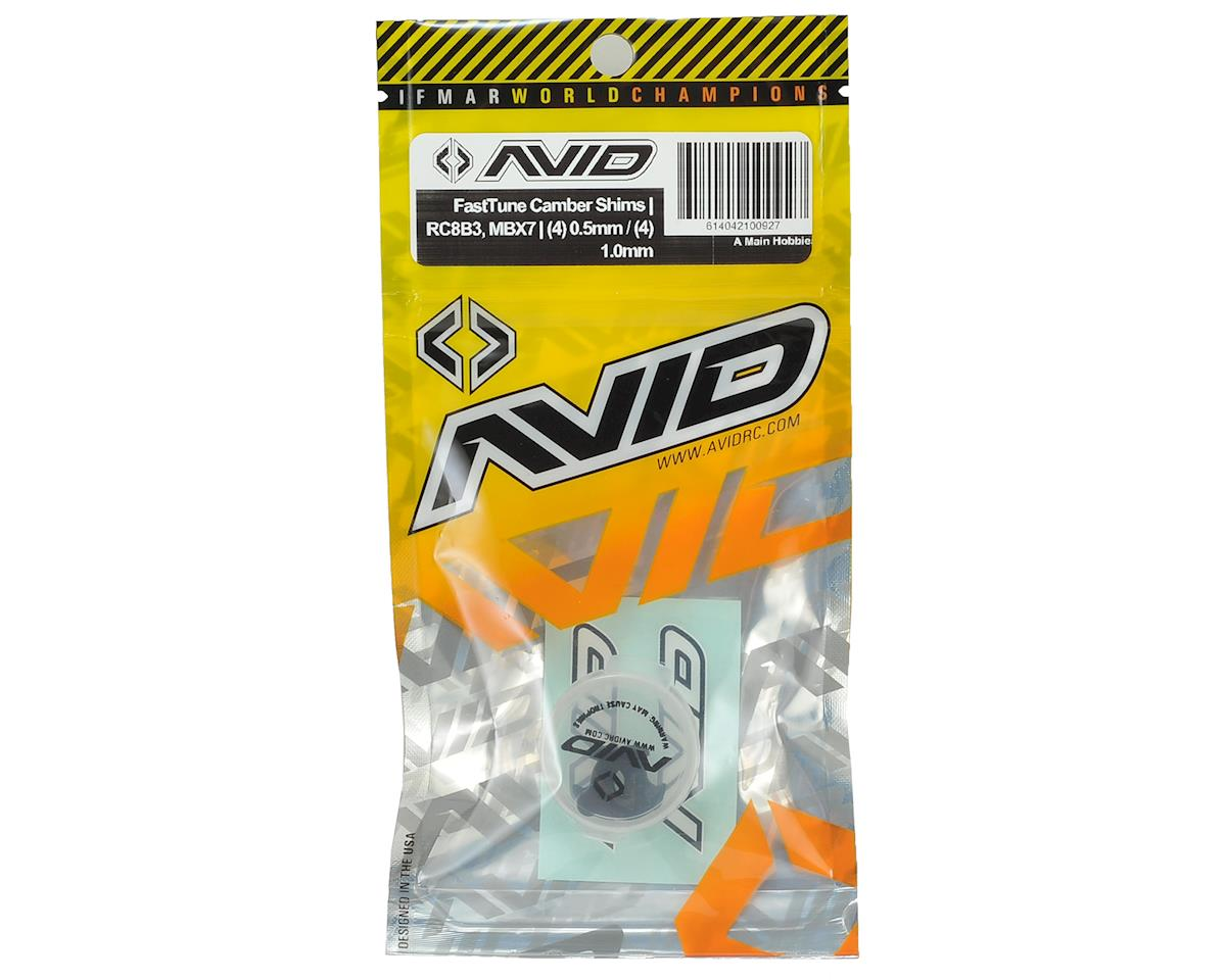 Avid RC RC8B3/MBX7 FastTune Camber Shim Set (4x 0.5mm & 4x 1.0mm)