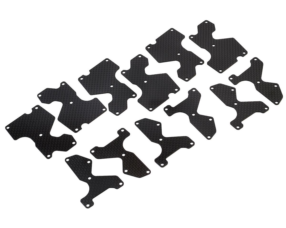 Avid RC MBX8 Carbon Arm Inserts Set (Mugen ECO)