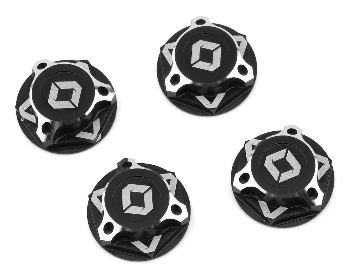 Avid RC Triad 17mm Fine Thread Capped Wheel Nut Set (Black) (4) (M12x1.0) (Kyosho Inferno ST-R)