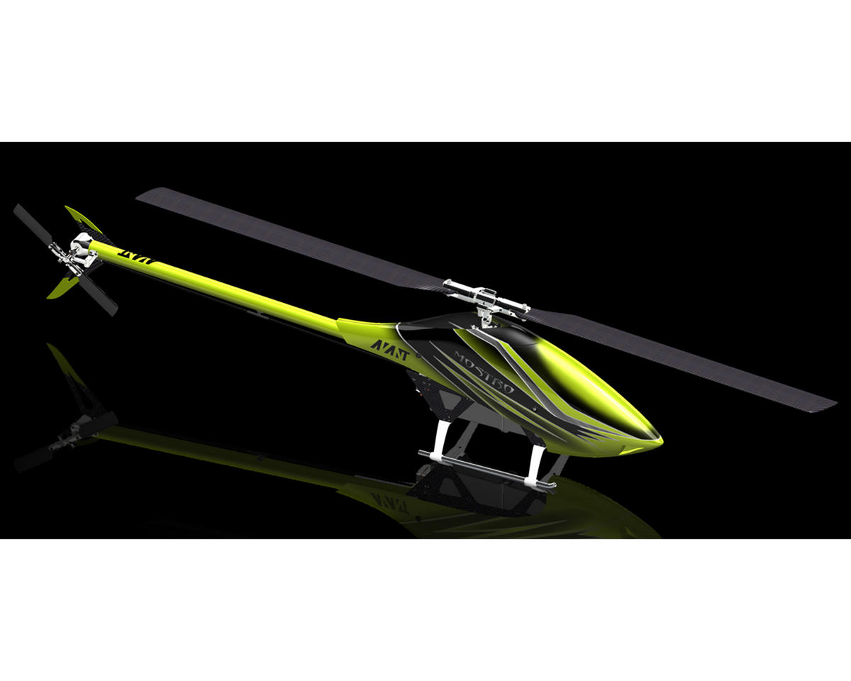 Avant Mostro 700 Electric Helicopter Kit w/Follower Arms Head (Neon Yellow)