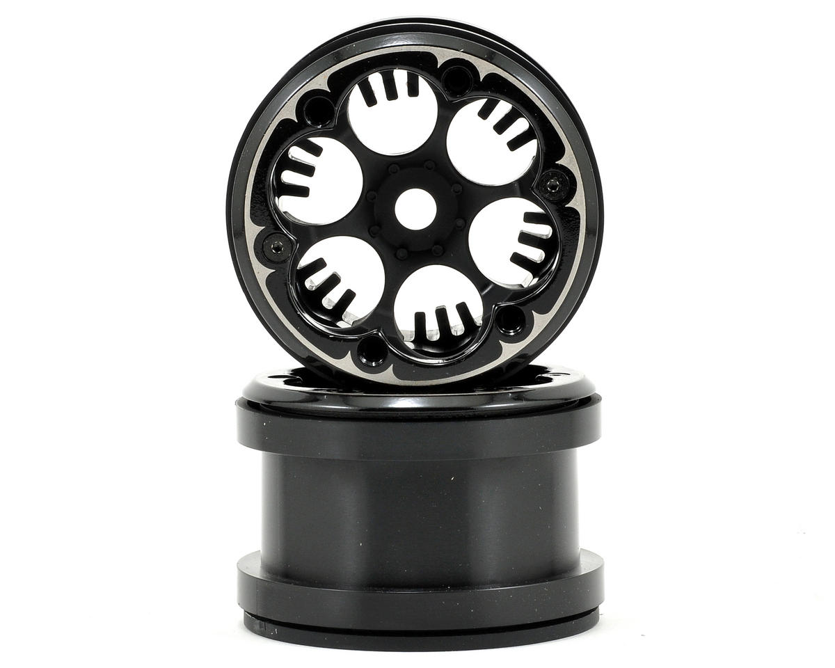 "VWS 2.2"" Beadlock Rock Crawler Wheels (2) (Black) by Axial"