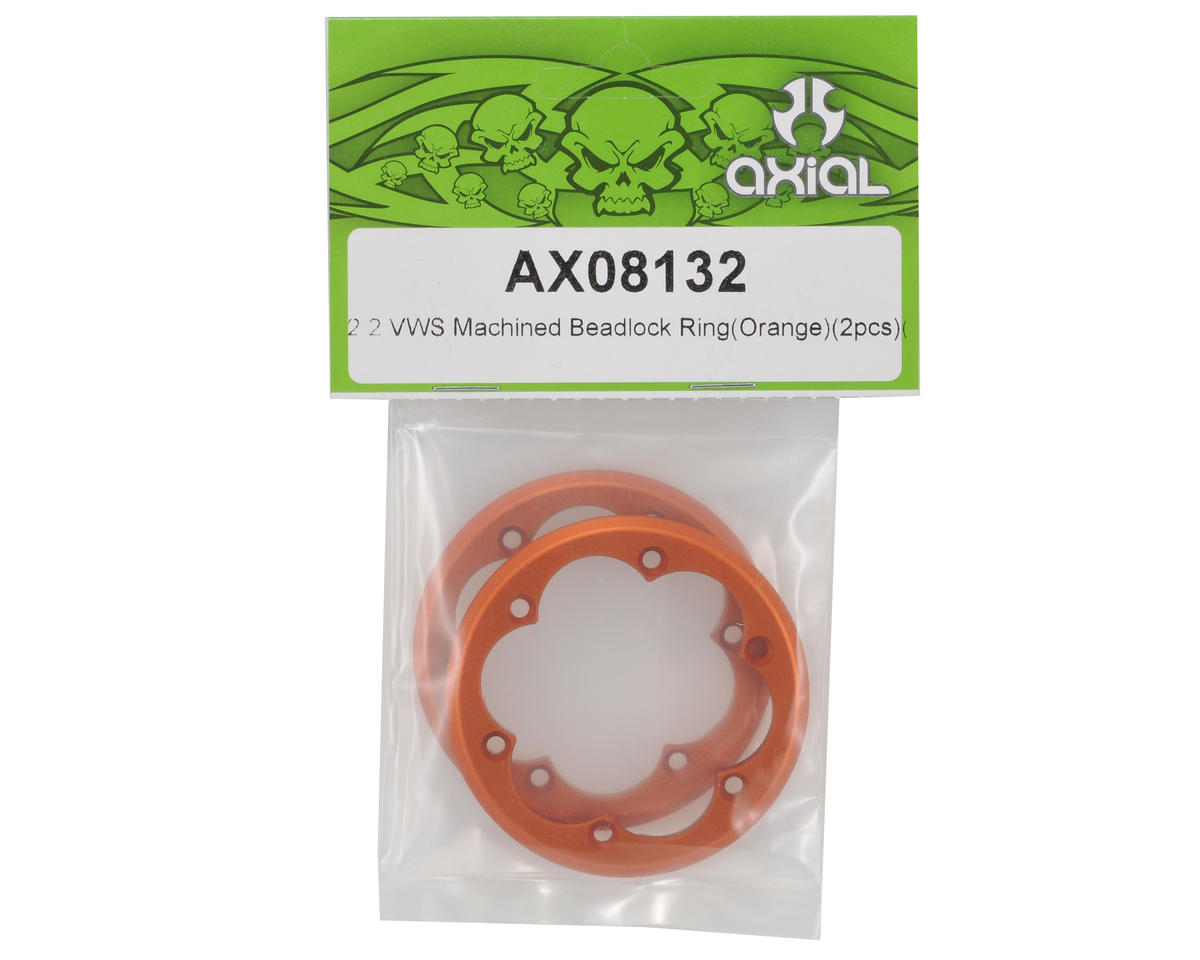 Axial Racing 2.2 VWS Machined Beadlock Ring Set (Orange) (2)