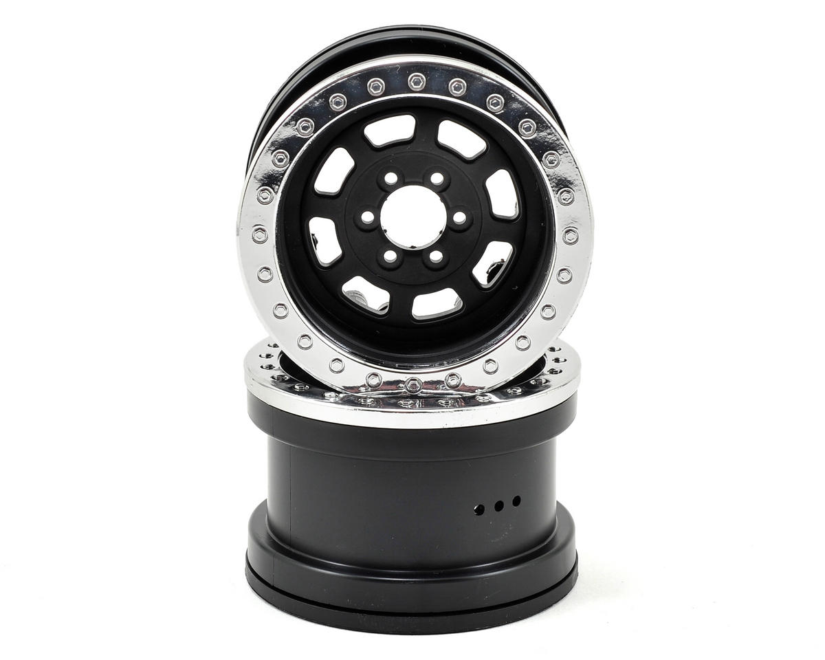 Axial Trail Ready HD IFD 2.2 Beadlock Crawler Wheels (2) (Black/Silver)