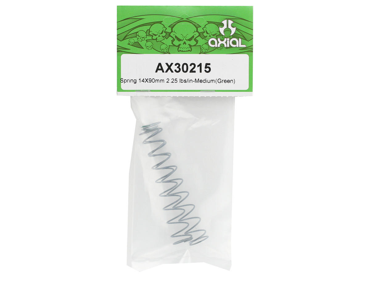 Axial Racing 14x90mm Shock Spring (Medium - 2.25 lbs/in) (Green)