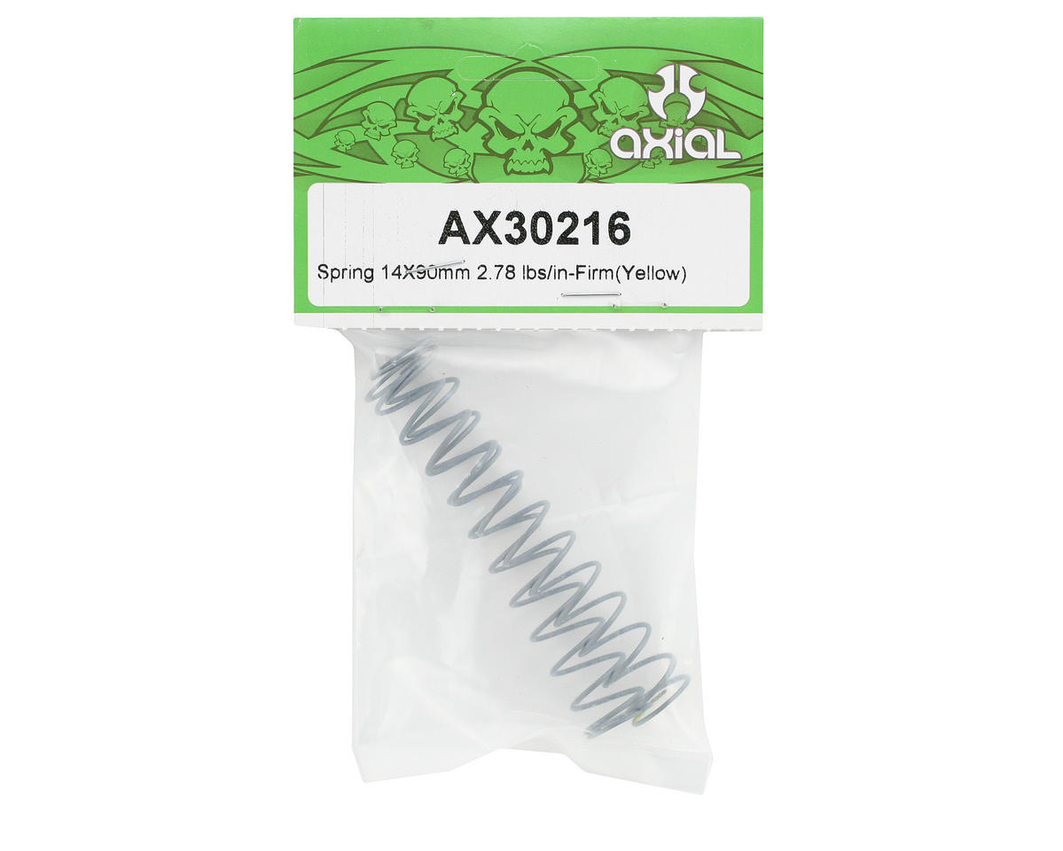 Axial 14x90mm Shock Spring (Firm - 2.78 lbs/in) (Yellow)