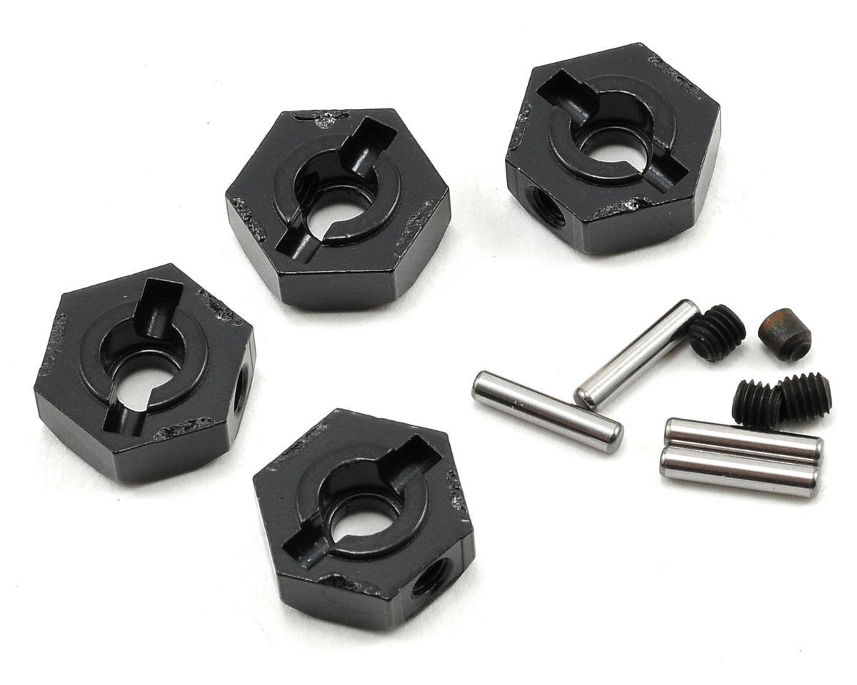 Axial Racing Narrow 12mm Aluminum Hub Set w/Hardware (Black) (4)