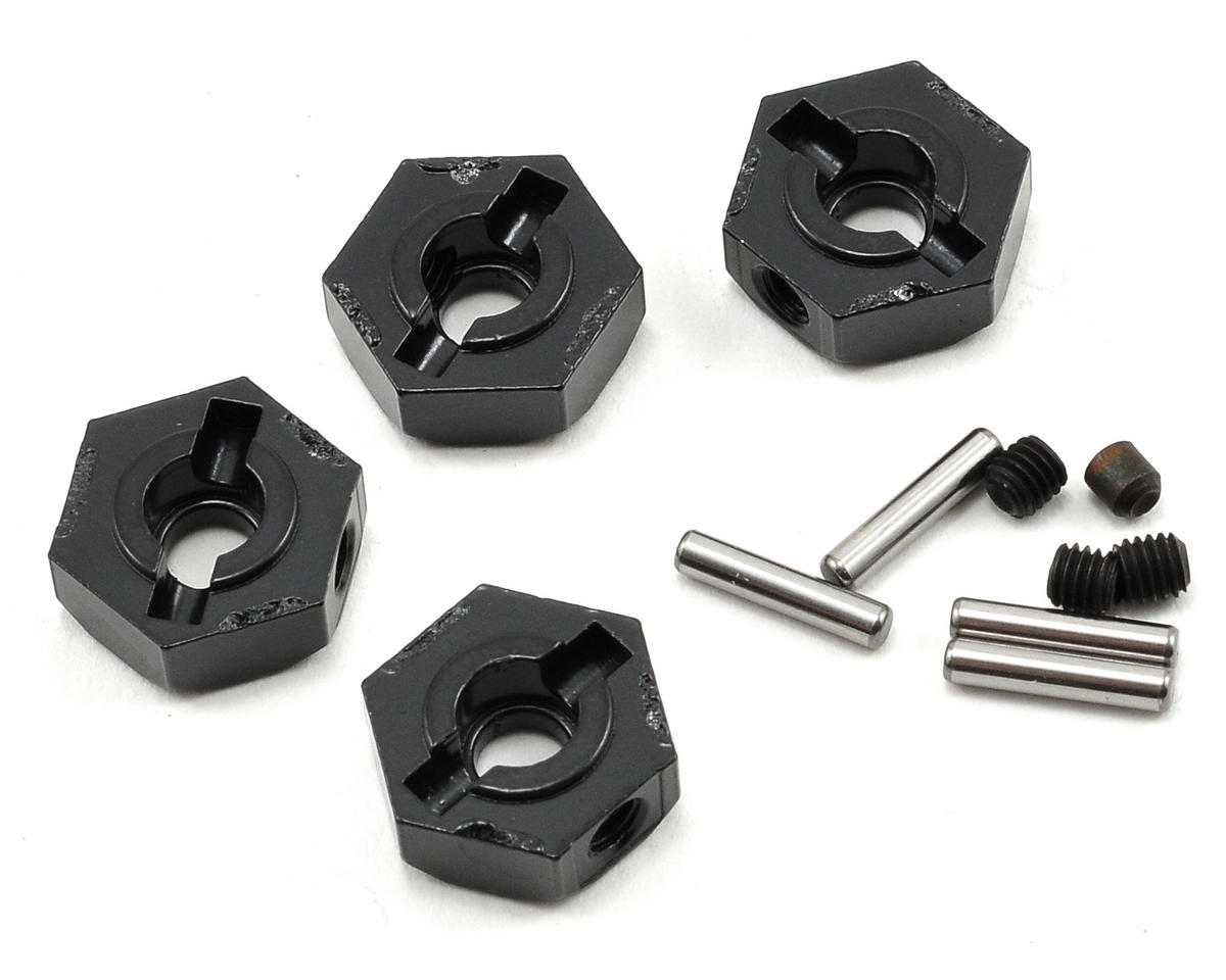 Narrow 12mm Aluminum Hub Set w/Hardware (Black) (4) by Axial