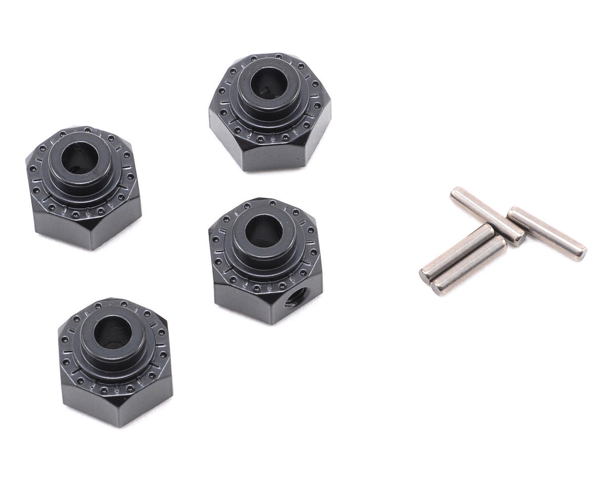 12mm Aluminum Hex Hub (Black) (4)