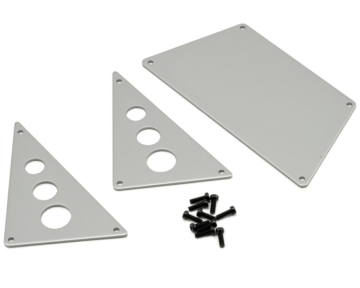 Axial Racing Aluminum Front Skid Plate Set (Silver) (3)